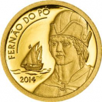 Equatorial Guinea - 2014 - 1000 Francos CFA - Fernão do Pó GOLD (PROOF)