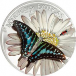 Equatorial Guinea - 2015 - 1000 Francos CFA - Butterflies in 3D MARIPOSAS EXOTICAS (PROOF)