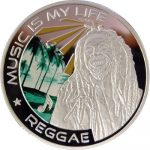 Fiji - 2012 - 1 Dollar - Music is my Life REGGEA (PROOF)