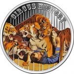 Fiji - 2013 - 1 Dollar - Circus THE TIGER TAMER (PROOF)