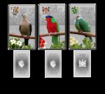 Fiji, Niue & Pitcairn Island - 2013 - 3x2 Dollars - Birds of the Pacific Islands (PROOF)