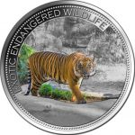 Fiji - 2016 - 10 Dollars - Exotic Endangered Wildlife MALAYAN TIGER (PROOF)