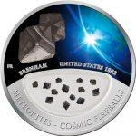 Fiji - 2012 - 10 Dollars - Meteorites BRENHAM (PROOF)