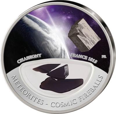 Fiji 2012 10 Dollar Meteorites Chassigny Proof