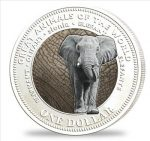 Fiji - 2009 - 1 Dollar - Animals of the World ELEPHANT silver (PROOF)