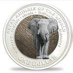 Fiji - 2009 - 1 Dollar - Animals of the World ELEPHANT silver (PROOF)