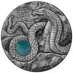Fiji - 2013 - 10 Dollars - Chinese Lunar Year YEAR OF THE SNAKE (PROOF)