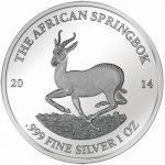 Gabon - 2014 - 1000 Francs - Smick Silver 1 Oz Edition Springbok (PROOF)