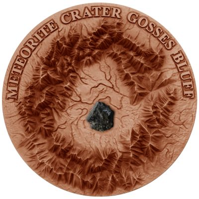 Niue - 2016 - 2 Dollars - Gosses Bluff Crater with Henbury Meteorite