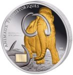 Ivory Coast - 2010 - 1000 Francs - Mammut Africanavus GILDED edition (PROOF)
