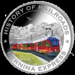 Liberia - 2011 - 5 Dollar - Railroad BERNINA (PROOF)