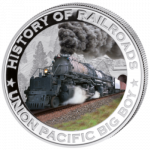 Liberia - 2011 - 5 Dollar - Railroad BIG BOY (PROOF)