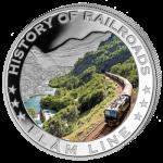 Liberia - 2011 - 5 Dollars - History of Railroads FLAMLINE (PROOF)
