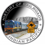 Liberia - 2011 - 5 Dollar - Railroad INDIAN PACIFIC (PROOF)