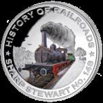 Liberia - 2011 - 5 Dollar - Railroad SHARP STEWART (PROOF)