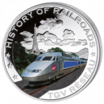 Liberia - 2011 - 5 Dollar - Railroad TGV RESEAU (PROOF)