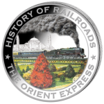 Liberia - 2011 - 5 Dollars - History of Railroads ORIENT EXPRESS (PROOF)