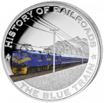 Liberia - 2011 - 5 dollar - Railroad BLUE TRAIN ()