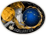 Macedonia - 2015 - 10 Denars - Zodiac Signs AQUARIUS (PROOF)