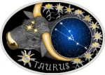Macedonia - 2015 - 10 Denars - Zodiac Signs TAURUS (PROOF)