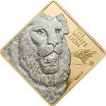 Malawi - 2009 - 500 Kwacha - Rare Wildlife Series WHITE LION (3 ounces gold) (PROOF)