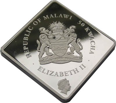 Malawi - 2009 - 50 Kwacha - Rare Wildlife Series WHITE LION (PROOF)