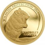 Mongolia - 2015 - 500 Togrog - Cambell's Hamster Gold (PROOF)