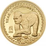 Mongolia - 2016 - 500 Togrog - Year of the Monkey GOLD (including box) (PROOF)