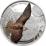 Mongolia - 2015 - 500 Togrog - Saker Falcon (birding series) incl box (PROOF)