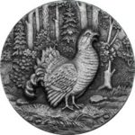 Niue - 2014 - 2 Dollars - Swiss Capercaillie (ANTIQUE)