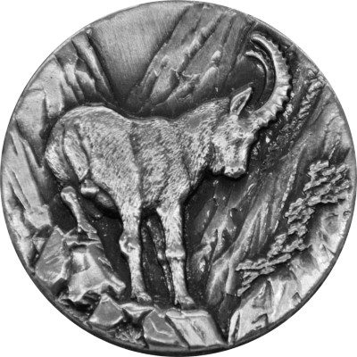 Niue - 2014 - 2 Dollars - Alpine Ibex CAPRICORN (ANTIQUE)