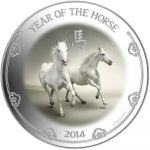Niue - 2014 - 2 dollar - Year of the Horse 1oz (PROOF)