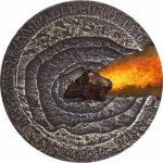 Niue - 2015 - 1 Dollar - Meteorite Campo Del Cielo 1576 Meteor Crater (ANTIQUE)