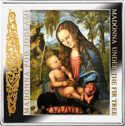 Niue - 2013 - 1 dollar - Masterpieces of Renaissance MADONNA UNDER THE FIR TREE (PROOF)