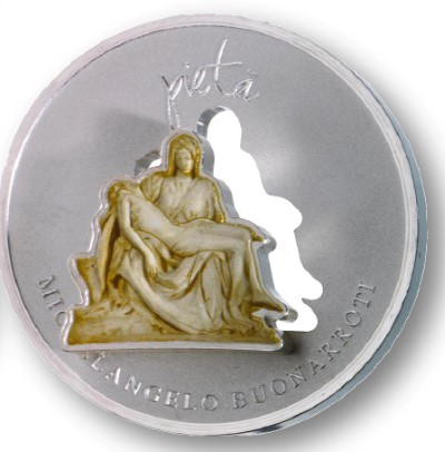 Niue - 2012 - 1 Dollar - Divine Sculpture MICHELANGELO BUONAROTTI (PROOF)