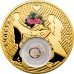Niue - 2013 - 2 dollars - Wedding Coin (gold plated) (PROOF)