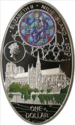 Niue - 2010 - 1 Dollar - Cathedrals NOTRE DAME (PROOF)