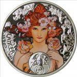 Niue - 2011 - 1 Dollar - Zodiac Mucha CANCER (PROOF)