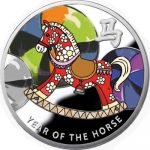 Niue - 2014 - 1 Dollar - Year of the Horse ROCKING HORSE (PROOF)