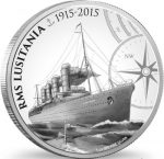 Niue - 2015 - 2 Dollars - 100 Year Commemoration of RMS Lusitania (PROOF)
