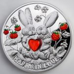 Niue - 2012 - 1 dollar - Happy in Love Rabbits (PROOF)