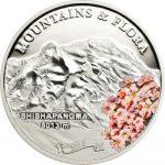 Palau - 2014 - 5 Dollars - Mountains & Flora SHISHAPANGMA (including box) (PROOF)