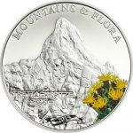 Palau - 2015 - 5 Dollars - Mountains and Flora TRETTACHSPITZE (including box) (PROOF)