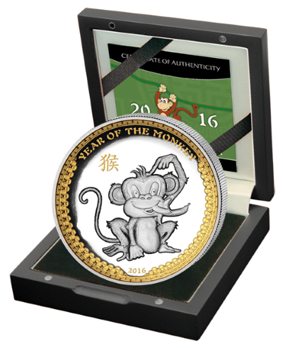 Palau - 2015 - 5 Dollars - Year of the Monkey PREMIUM VERSION (PROOF)