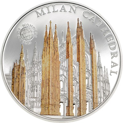 Palau - 2015 - 5 Dollars - World of Wonders MILAN CATHEDRAL (including box) (PROOF)