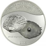Palau - 2006 - 5 Dollars - Shell Coin Black Pearl (PROOF)