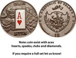 Palau - 2008 - 1 Dollar - Poker Dealer Button (BU)