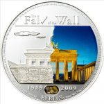 Palau - 2009 - 5 Dollars - Fall of the Berlin Wall (PROOF)