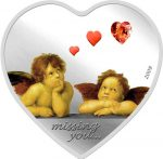Palau - 2009 - 5 Dollars - Missing You Angels with heart Swarovski (PROOF)
