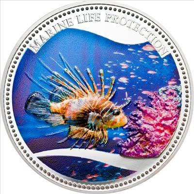 Palau - 2009 - 5 Dollars - Marine Life RED LIONFISH (PROOF)